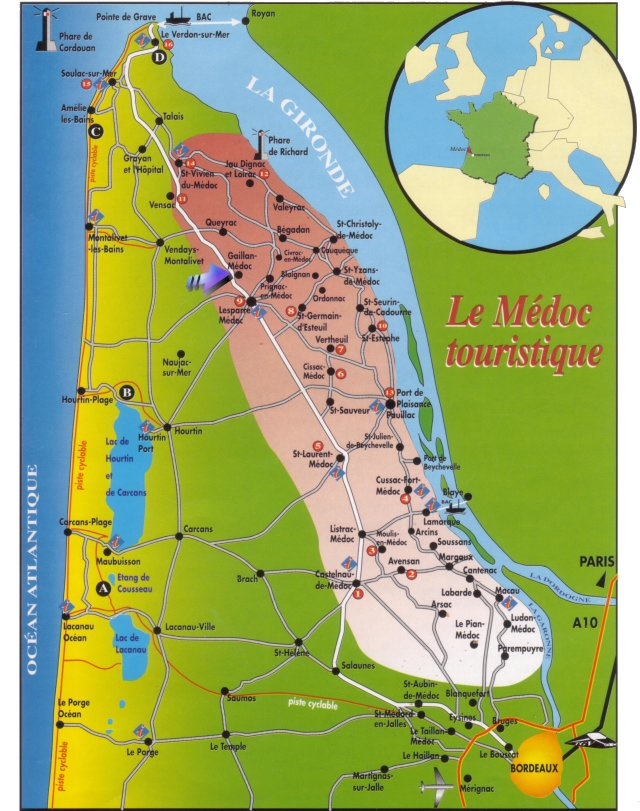 carte du medoc - Photo